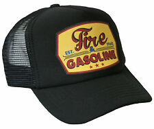 Trucker Mesh Cap Fire & Gasoline schwarz Hot Rod US Car V8 Race Mütze Retro neu