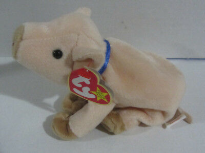 NEW Ty Beanie Baby Knuckles The Pig 1999 Retired Plush Toy Farm Animal MWMT