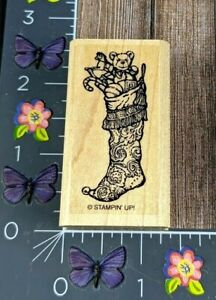 Stampin' Up! Stocking Full Of Gifts Rubber Stamp Yuletide Christmas Holiday #C71