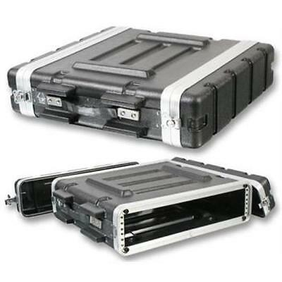 "NEW PA DJ 2U Equipment Rack Mount Flight Storage Case.Concert.19"" Stage.2space"