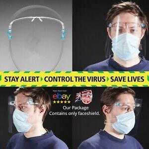 Écran Facial Visière Anti Brouillard Clair écran protection complète verres Meilleure Qualité UK