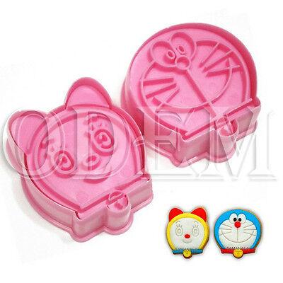2pcs Jingle cat Sugarcraft Mold Plunger Fondant Cake Cookie Decorating Cutters