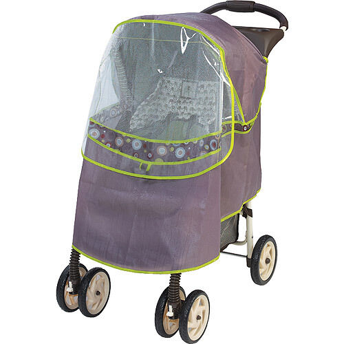 New Summer Infant by Kiddopotamus Stroller Shield Protective Rain Shade Gray NIP