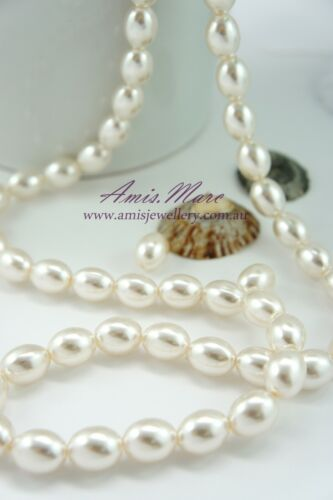 70pcs Pearl Beads 10x13mm Cream Color Imitation Acrylic Oval Shape Pearl Spacer