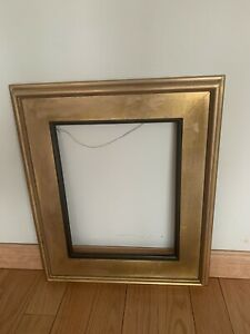 Vintage-Picture-Frame-Wood-Gold-And-Black-Color-Size-21x17-8-and-14x11-Inches