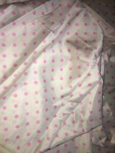 Belle Tissu Vintage, Satin à Pois Roses , Larg 90 Cm X H 350 Cm, Réf A269