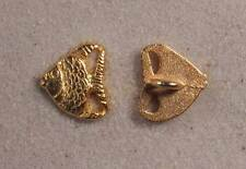 """Set of 6 JHB Gold Realistic Metal Buttons Fish 1/2 X 9/16"""" 13 X 15 mm lyk0042"""