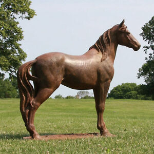 Etonnant Image Is Loading Large Horse Outdoor Garden Statue Sculpture By Orlandi