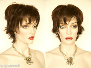 Short-Soft-Layered-Waves-Blonde-Brunette-Red-Straight-Wigs