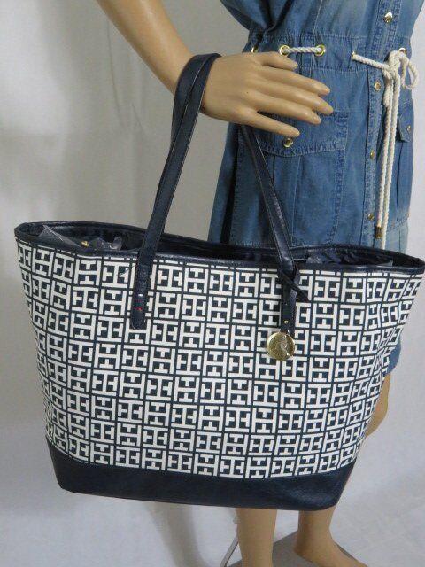 c3676a3f8ba TOMMY HILFIGER shopper bag, monogram tote, handbag