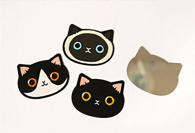 Cute Cat Face Unbreakable Compact Pocket Clear Hand Mirror