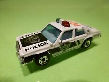 MATCHBOX  FORD LTD - POLICE PD-21 - WHITE + BLACK 1:69 - GOOD CONDITION