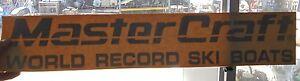 "MASTERCRAFT BOAT DECAL VINYL STICKER WORLD RECORD SKI BOAT BLACK 26"" X 5"""