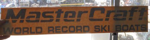 "MASTERCRAFT BOAT DECAL VINYL STICKER  WORLD RECORD SKI BOAT BLACK 26/"" X 5/"""