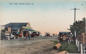 RARE-EARLY-1900s-WOODY-POINT-QLD-NEAR-THE-JETTY-RETRAC-SERIES-POSTCARD