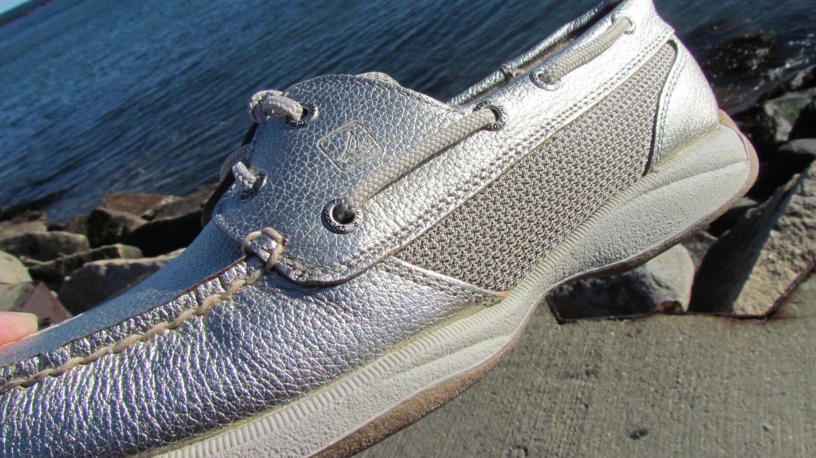 NEW 8 Sperry Top Sider Intrepid Intrepid Sider Platinum metallic Leder deck schuhe gold Damens f42eb9