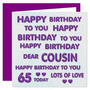Chere Cousine Joyeux Anniversaire Carte Ages 11 100 Ans Parfait Violet Ebay