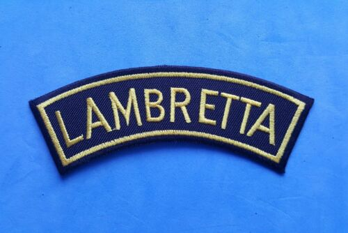 IRON ON PATCHES: LAMBRETTA SCOOTERS COLLECTION OF FIVE INDIVIDUAL SEW ON