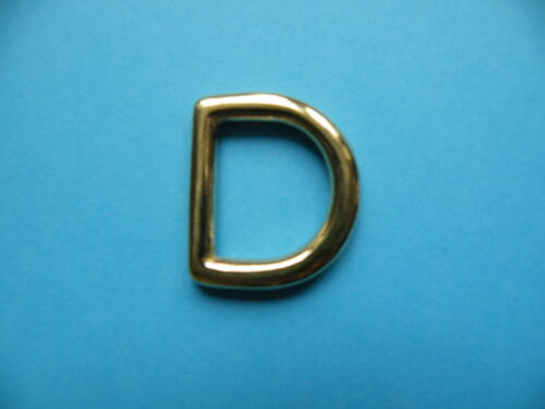 "Solid Brass Cast D Dee Ring 20mm 3//4/"" D Dee Ring Rings Handbag Belt Dog Collar"