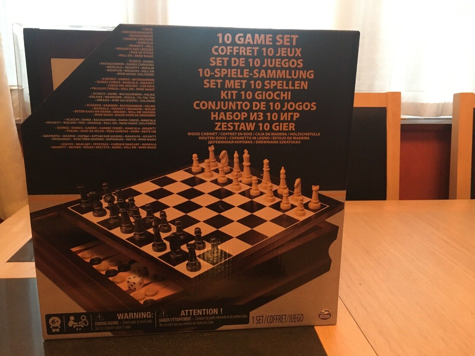 Chess Set Plus 9 Others Games In Wooden Box