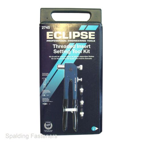 6 e 8 Eclipse Threaded INSERT impostazione nutsert TOOL KIT IN PLASTICA caso-M4 5