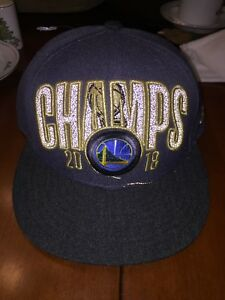 69e3145050b Golden State Warriors 2018 NBA Champs Champions Locker Room Snapback ...