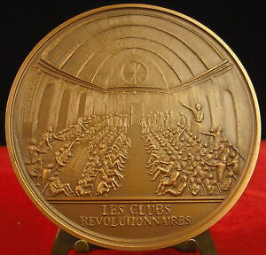 Medal-the-Clubs-the-Revolutionary-by-M-Rips-Medal-10064-French