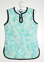 Samuel Dong Women's Asian Sleeveless Bubble Print Blouse, Size Small