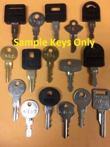 Tool Box Keys Cut To Your Lock Code Husky Kobalt Craftsman Kennedy Locksmith Ebay