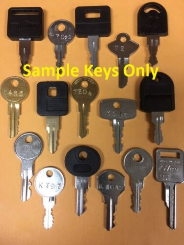 Tool Box Keys Cut to Your Lock Code Husky Kobalt Weather Guard Craftsman Delta