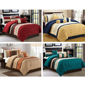 DCP-7Pcs-Bed-in-a-Bag-Comforter-Sets-Queen-King-Cal-King-Size-Queen-Embroidery