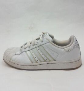 Dettagli su Adidas Adicolor Scarpe Da Ginnastica Da Uomo Bianco TG UK 5 Ragazzi Scarpe mostra il titolo originale