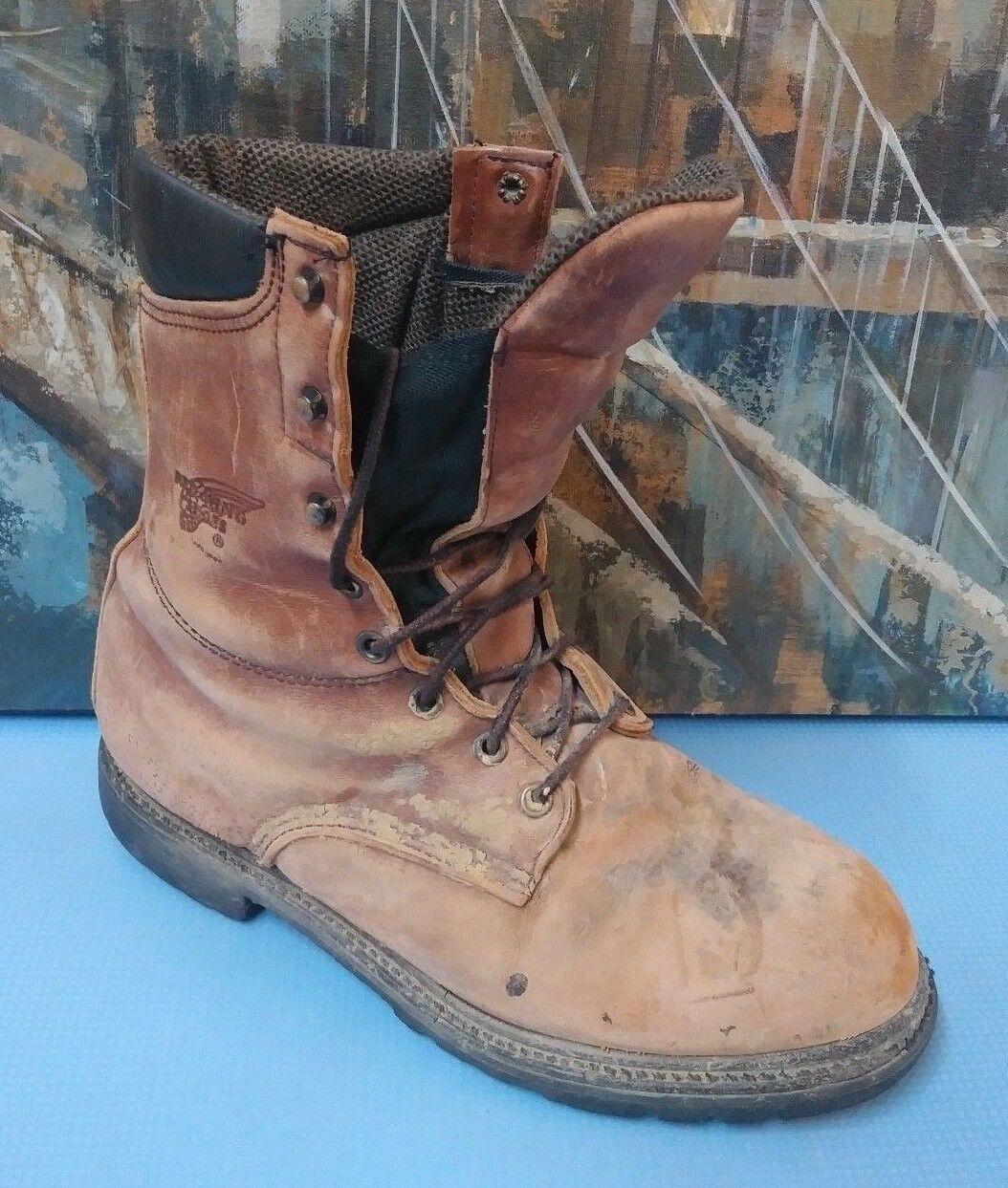 botas de ala roja estilo 05500, tamaño 8 D para hombre marrón envejecido