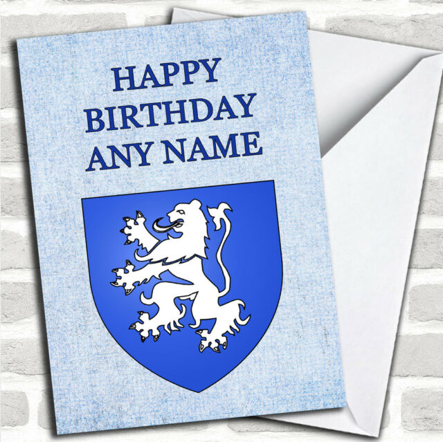 Scottish Lion Customised Birthday Greetings Card
