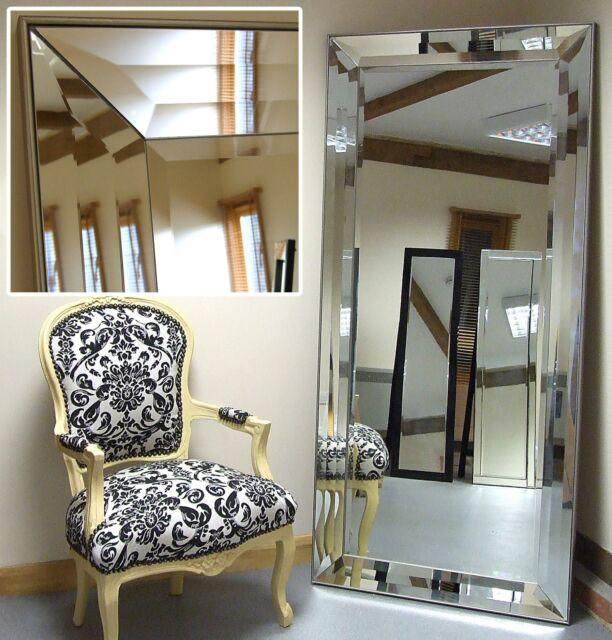 "Modena-G Extra Large Veneer Edge Venetian Full Length Wall floor Mirror 31""x65"""