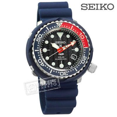 New Seiko Sne499p1 Padi Divers Blue Band Pepsi Dial Solar Tuna 46 7