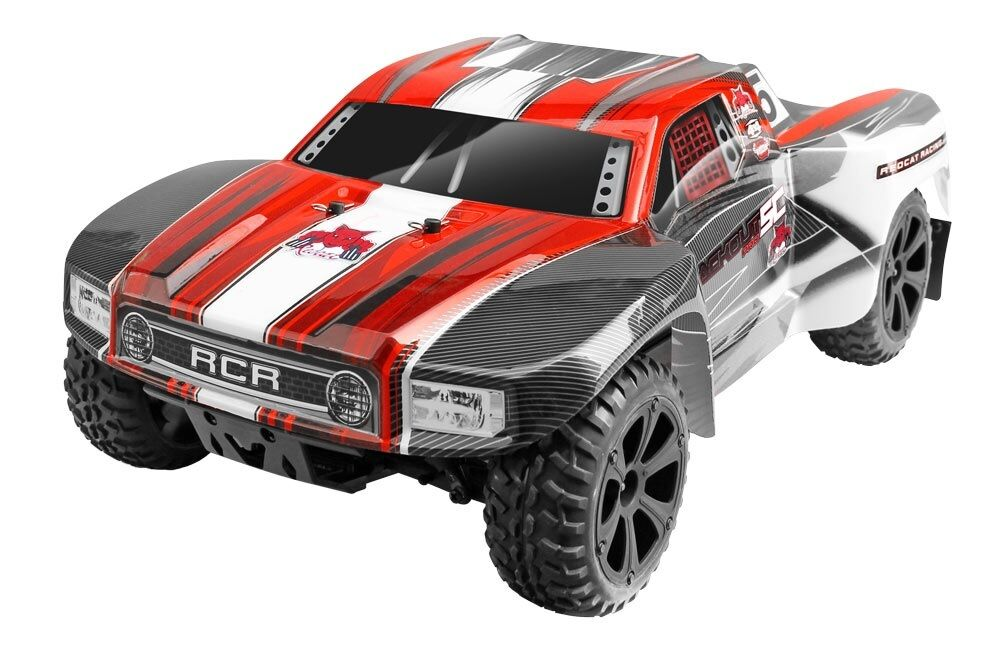 1:10 Negroout Sc Pro Cortas Rc Truck 2.4 ghz Motor Brushless Rojo Nuevo