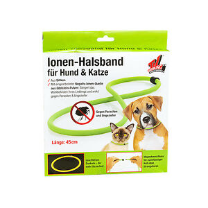 Collare anti Zecche per Cani e Gatti Chiusura Magnetica Verde 45Cm 60Cm