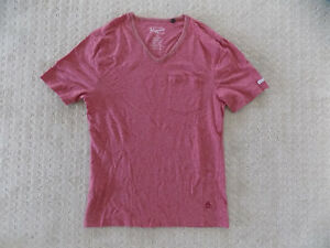 MENS-SMALL-PENGUIN-MUNSINGWEAR-POCKET-V-NECK-TEE-SHIRT-T-SHIRT-TOP-RED-HEATHER