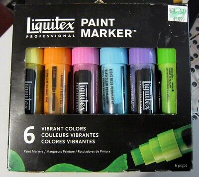 Liquitex Paint Markers Set 6 Vibrant Colors