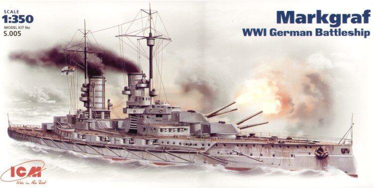 ICM 1 350 Markgraf WWI German Battleship S005