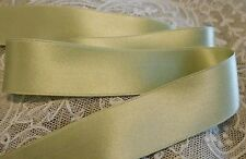 "5/8"" WIDE DOUBLE FACE SILK SATIN RIBBON - SAGE GREEN # 31- BY THE YARD"