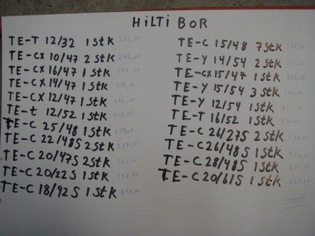 Betonbor, HILTI