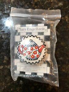 Mary Engelbreit 2 Drawer Pulls Glazed Ceramic Circle Red Yellow Cherries