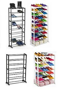 7-10-Tier-Shoe-Heels-Storage-Rack-Organiser-Shelve-Stand
