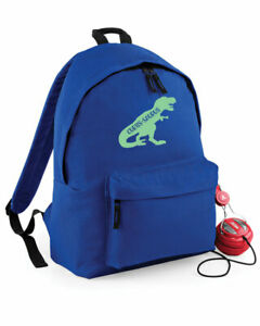 Personalised-Dinosaur-Rucksack-Backpack-Girls-Boys-Dino-School-Bag-4-colours