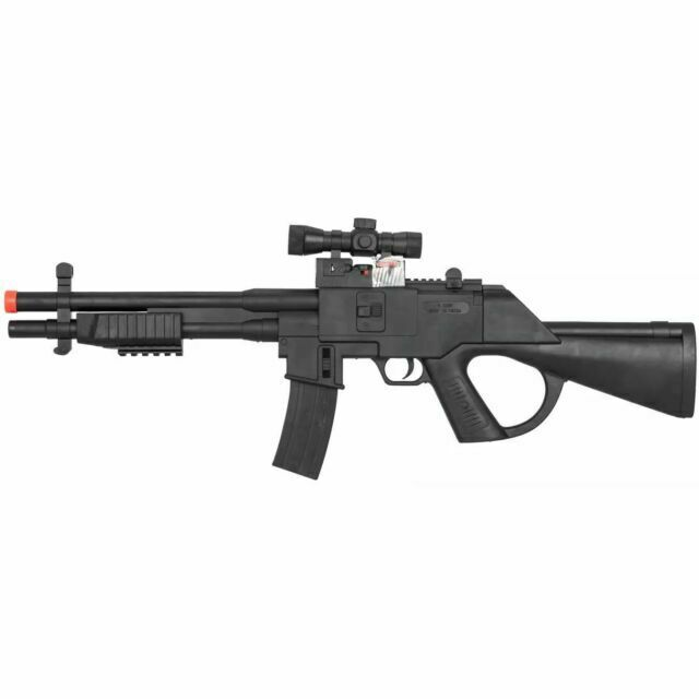 Uk Arms P2338a M4 Tactical Spring Shotgun Airsoft Gun W Scope Laser Black For Sale Online Ebay