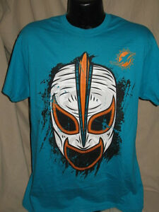 Nfl miami dolphins mask logo t shirt mens sizes nwt cool for Dolphins t shirt new logo
