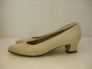 womens-7-3A-AAA-Salvatore-Ferragamo-bone-textured-leather-shoes-pumps-low-heels