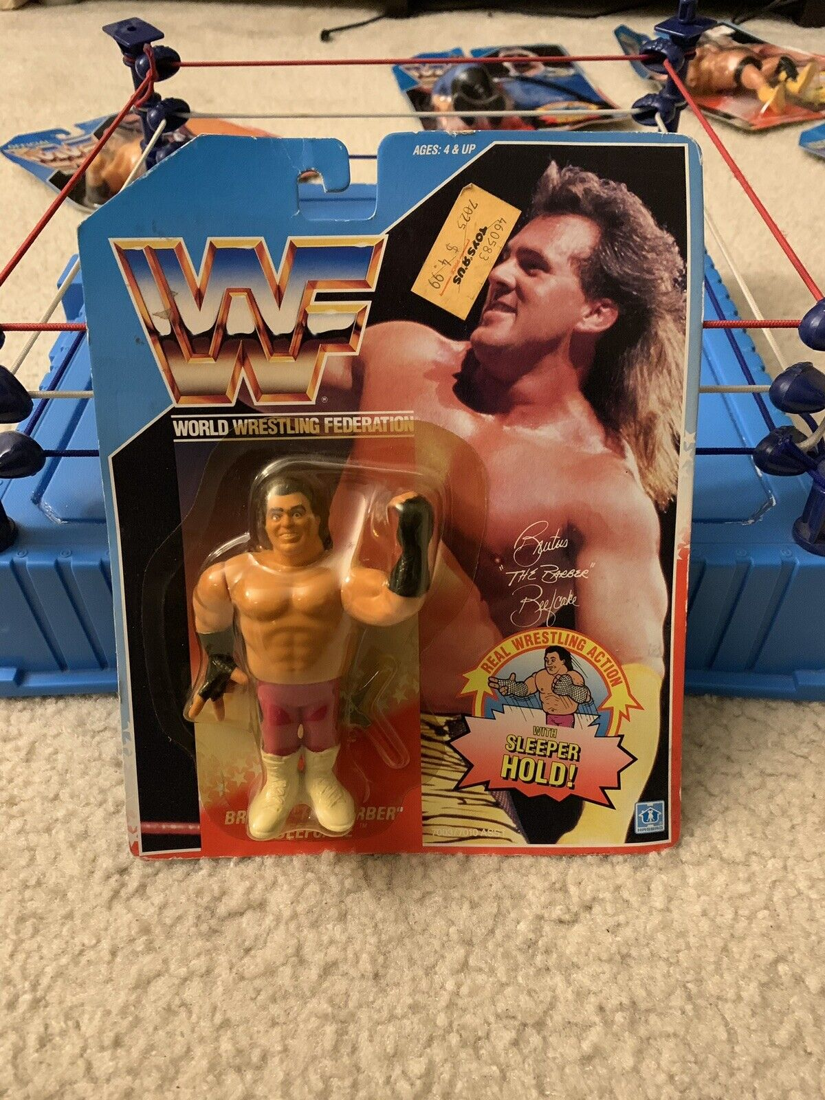 1990 WWF Hasbro Series 1 Brutus The Barber Beefcake Action Figure MOC Sealed